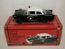 FIRST GEAR 1956 FORD POLICE CHIEF'S CAR NASHVILLE POLICE 1/34 19-2284
