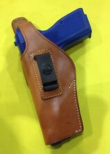 Leather Concealment Holster for BROWNING HI POWER / FEG - LEFT Hand (# 204L BRN)