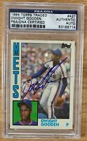 1984 Topps Traded 42T Dwight Gooden ROOKIE RC AUTO SIGNED Autograph Card PSA/DNA