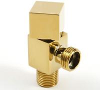 """Modern Brass Gold Finish G1/2""""Shut Off Valve For Bathroom Toilet Bidet Shower"""