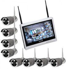 Kit Dvr WiFi 8 Canali e 8 telecamere WiFi 1.3 MPX  Monitor 12'