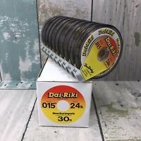 "Dai-Riki Tippet Material Fly Fishing Line .015"" 24# Test (10) Spools 30 Meters"