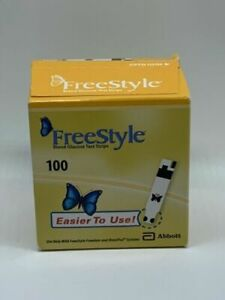 100 Freestyle Blood Glucose Test Strips - Exp: 2021-2022 SEALED
