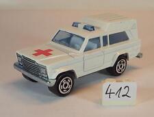 Majorette 1/64 Nr. 269 Jeep Wagoneer Ambulance Krankenwagen Nr.1 #412