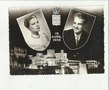 88700 BELLA CARTOLINA MATRIMONIO REALI DI MONACO 19 AVRIL 1956