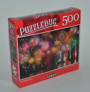 CRAZART PUZZLEBUG CELEBRATION FIREWORKS JIGSAW PUZZLE 500 PIECES 18.25 X 11 FUN