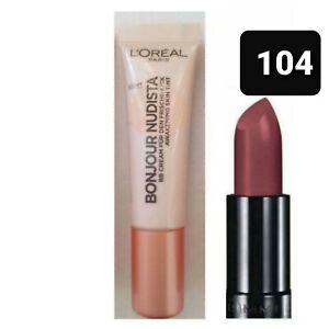 L'Oreal Nudista  BB Cream: LIGHT 12ML + RIMMEL LIPSTICK 104