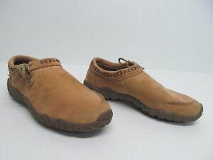 Teva Moki Southwest Trim Tan Leather Moccasins Size Women's 8