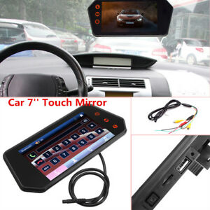 1080P Car 7'' Touch Mirror Touch Screen Rearview Monitor Video Player FM/TF/USB