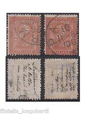 1863 ITALIA 2 centesimi De La Rue e Torino con messaggi occultati, 2v us -F392
