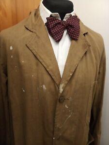 """Vintage 1950s Brown Denim Workwear Duster jacket coat - Ditsy Vintage 40"""" M"""