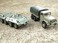 1:72 4D Assembly Tank M35 Truck Soviet BTR 80 Armored Vehicle Model Military Toy