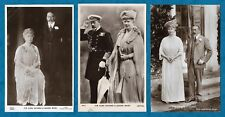 3 X 1920s RP PC OF KING GEORGE V & QUEEN MARY