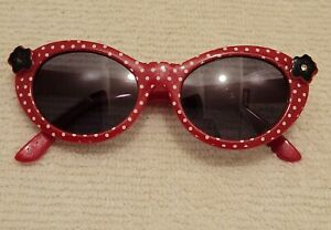 Gymboree Poppies Collection Red w/ white Polka Dot Little Kid Sunglasses EUC