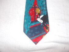 Tie Novelty Cartoon Disney Mickey Mouse looking out on a Raindy Day