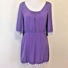 Impeccable Pig Lavender Cold Shoulder Midi Dress - Size Small