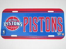 Detroit Pistons Plastic License Plate - Weather Resistant w/ Vibrant Colors