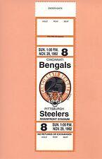 Pittsburgh Steelers at Cincinnati Bengals 1992 NFL ticket stub Topps Rod Woodson