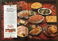 ORIGINAL 1966 Stouffer's Frozen Foods Two-Page Print Ad The Wonderful New World