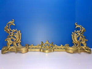Antique BAR Fireplace, BAR Housewife, 19 Th, Bronze, Style Louis XV