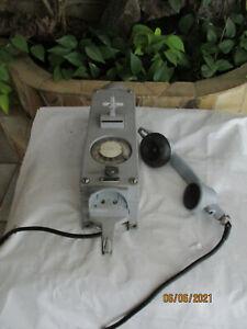 altes orig. Siemens Bunkertelefon  Schiffstelefon Grubentelefon ex-gesch. SELTEN