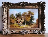 John Berney Ladbrooke Norwich School, Norfolk Cottage 19thC Antique Oil Painting