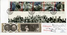 Foyles War Cast Signed Benham FDC Signed B