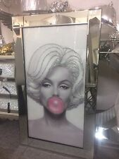 NEW SPARKLY MARILYN MONROE PICTURE GLITTER IN MIRRORED FRAME, GLITTER ART