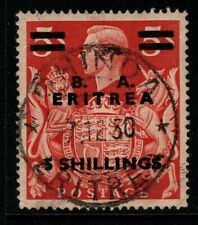 More details for b.o.i.c.-eritrea sge24 1950 5/= on 5/= red fine used