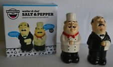 Bigmouth Waiter And Chef Salt Pepper Shaker Set With Sound Effects