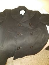DSCP Quarterdeck Collection Genuine Navy Issue Wool Pea Coat Size 42R,40S