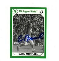 Earl Morrall Michigan State MSU Spartans football signed card Miami Dolphins DEC