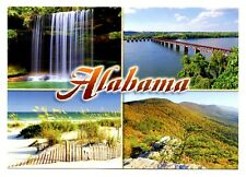 Alabama Postcard New Upper Caney Falls Railroad Bridge Gulf Coast Cheaha Park