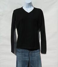 "100% Cashmere Knit Sweater Ladies ""V Neck"" B+ Himalayan Black Size: M  "