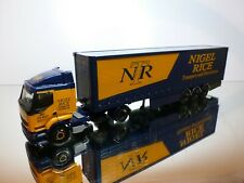CORGI TOYS RENAULT PREMIUM TRUCK + TRAILER - NIGEL RICE - BLUE 1:50 - VERY GOOD