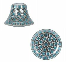 Blue Mirror Candle Plate & Shade Gift Set 28147