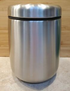 Coffee Canister: Airtight Coffee Bean Container Storage Stainless Steel (18 oz)