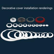 2pcs Plastic wall hole duct cover faucet angle valve Pipe plug decoration covZY