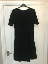 NEXT black knit TUNIC / SMOCK DRESS - SIZE 20 vgc