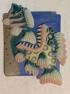 Fish Pin Handmade Porcelain Artsy Handcrafted