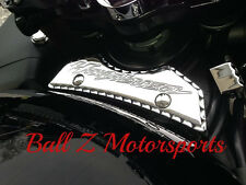 99-17 Hayabusa Chrome Engraved Front Gas Tank Pad Center Cover w/Ball Cut Edges!