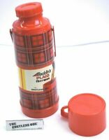 Vintage Aladdin Plaid Thermos 1 Quart Plastic Thermos New w/ Carrying Handle