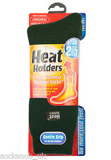Heat Holders - Mens Winter Warm Thick Hiking Thermal Socks, 6-11 / Forest Green