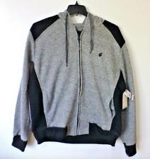 Rocawear Sweatshirt Mens Size Large Marled Quilted Black Fleece Hoodie New