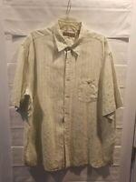 Tori Richard Honolulu Hawaiian Button Down  Shirt Mens 2XL Silk Linen Blend EUC