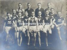 ANTIQUE VINTAGE YALE UNIVERSITY CT TRACK FIELD IVY LEAGUE DUDES YOUNG MEN PHOTO