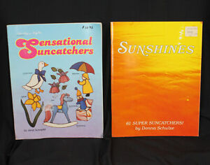 2 Stained Glass Pattern Books Suncatchers Schulze & Schrader 148 Designs Full Sz