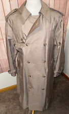 Vintage Orvis Gore-Tex Rain Water Proof Beige Trench Coat Long Sz 42L Lined
