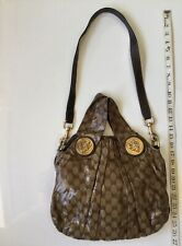 Authentic Gucci Hysteria Pleated GG Canvas Shoulder Bag