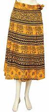 Ethnic Cotton Wrap Around Skirt Hippies Gypsy Indian Sarong Beach Rapron Skirt
